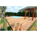 aplicação de deck de madeira para piscina preço Parque Peruche