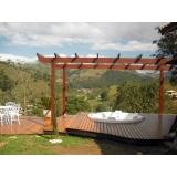 deck de madeira na parede  preço Parque do Carmo