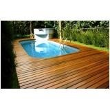 deck de madeira para jardim preço Arco-íris