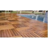 deck de madeira para piscina preço Lapa