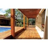deck de madeira para piscina Jardim Alto da Colina
