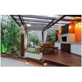 aplicação de deck de madeira para varanda