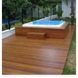decks de madeira para jardins Ribeirão Pires