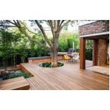 quanto custa deck de madeira para jardim Jardim Jurema