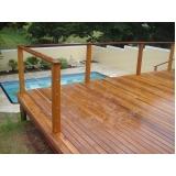 quanto custa deck de madeira para piscina Tremembé