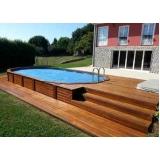 quanto custa deck de madeira para sacada Rio Pequeno